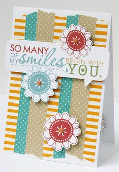 Paper Issues: So Many of My Smiles Card