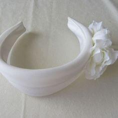 Diadema de flores para niña de primera comunión headband coutur