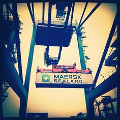 Refrigerated Maersk shipping container - Instgram