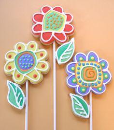 Flower Doodle Sugar Cookies- 2 | Flickr - Photo Sharing!