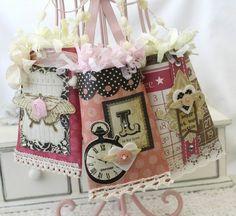 Scatoline portaoggetti decorate da riciclo creativo rotoli di carta igienica