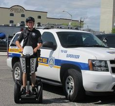 Patrolman Thomas Runyon spends his shift Friday afternoon on one of the Ocean City Police Department's new Segways.