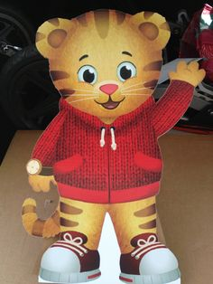 Daniel Tiger cardboard cutout- 2 feet tall!