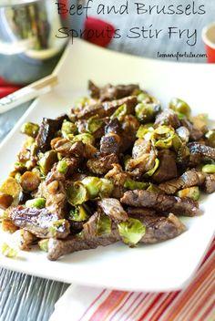 Beef and Brussels Sprouts Stir Fry www.lemonsforlulu.com