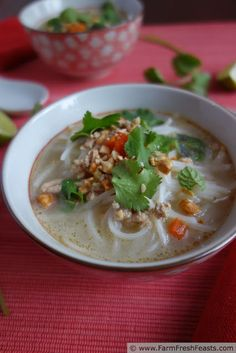 Thai Inspired Creamy Chicken Noodle Soup
