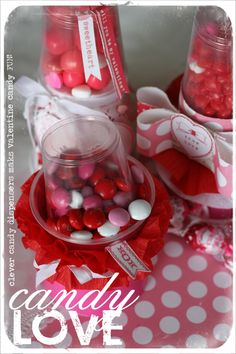 DIY Valentine Candy Dispensers