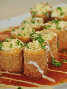 Valentine's Day Fried lasagna Rolls  Elegant, Fast & Easy! - So tasty too