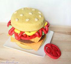 Amazing cheeseburger cake