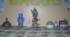 Spongebob Party Decor. Bikini Bottom Houses