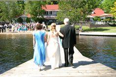 Romantic Weddings - Bride Makes to Beach for Ceremony