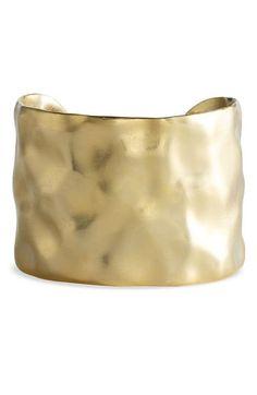 Nordstrom 'Gold Water' Textured Cuff | Nordstrom - StyleSays