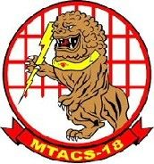 "Marine Tactical Air Command Squadron 18 (MTACS-18), Marine Corps Air Station Futenma, Okinawa Japan. ""Keep Charging"""
