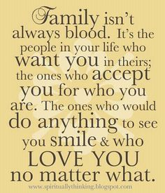 I love my non-blood family!
