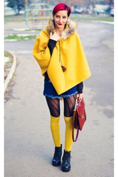 La Redoute mustard knee-high socks - Keit color bombed the Bulgarian autumn on Beauty in Insanity