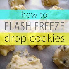 flash freeze drop cookies