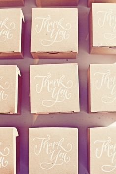 Recuerdos / Favors stamped favor boxes
