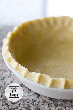 Basic Pie Crust | tasteandtellblog.com #pie