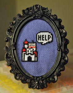 SUPER MARIO 3: CASTLE! by pugbecki, via Flickr geek cross stitch, cross stitch princess, crossstitch, nintendo cross stitch, cross stitch mario, super mario, cross stitches, cross stitch nintendo, awesome cross stitch