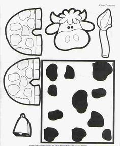 Toilet paper roll cow craft
