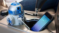 This Is The Cup Holder Charger You've Been Looking For geek, car charger, usb car, r2d2 usb, star war, stuff, gadget, starwar, r2d2usb