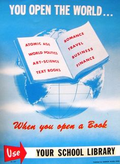 Support School Libraries.  You Open the World ... When You Open a Book by Enokson, via Flickr