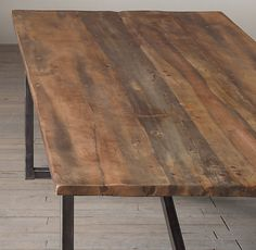 Salvaged Boatwood Dining Table- breakfast table