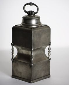 Antique Pewter Flask
