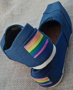 LGBT and GAY RIGHTS canvas shoes toms size on Etsy, $34.99