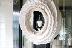 white duct tape wreath #DIY