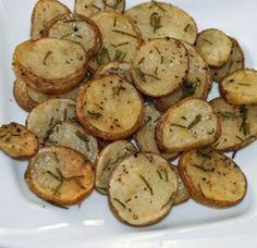 Skinny Rosemary Parmesan Oven Potatoes