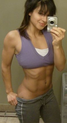 My wife's abs are totally lickable - don't you think? Hey, that's my wife!