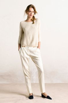 "I would LOVE to have every color in these pants alone!! ""massimo dutti white"""
