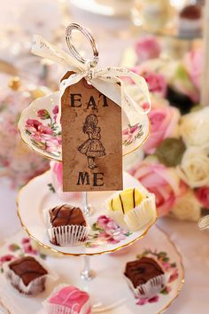 cupcake displays, tea parti, tea time, baby shower ideas, alice in wonderland, mini cheesecakes, dessert tray, baby showers, sweet cakes