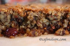 Low Carb Dessert -  Scroll down for tweaked, low carb version of this classic bar dessert - Recipe calls for  ground almond flour, baking powder, baking soda, dried blueberries or dried cranberries, unsalted butter, splenda. egg whites, walnuts
