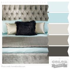 Love this color pallet throughout the house - pulls in your wall color, deeper brown of couch, grays for master (to become Mia's) so the bathroom isn't a stark contrast. Once it is hers we can pull in a darker teal with pops of deep magenta & your bright lilac with the dark gray. Your bedroom could use the dark gray, & touches of this light teal with the lavender/gray room pinned earlier