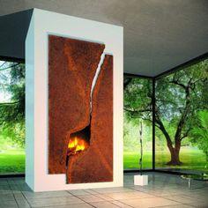 modern fireplaces, living rooms, metal, fireplace surrounds, fireplace design