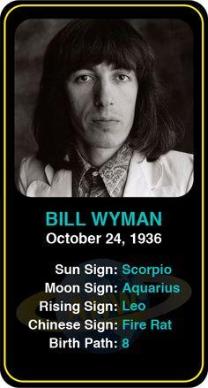 Celeb #Scorpio birthdays: Bill Wyman's astrology info! Sign up here to see more: https://www.astroconnects.com/galleries/celeb-birthday-gallery/scorpio #astrology #horoscope #zodiac #birthchart #natalchart #billwyman #rollingstones