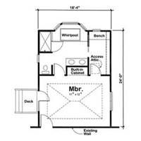 My room on pinterest master bedroom addition floor for Free home addition plans