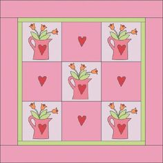 """TLC Home """"Watering Can Quilt Pattern"""""""