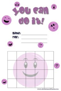 smiley face reward charts for kids cute designs for