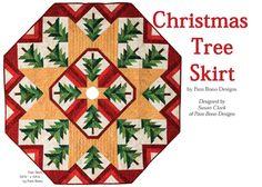 free pattern, christma tree, beauti christma, pam bono christmas tree skirt, quilt christma