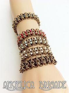 Beaded Chain Maille Bracelet   https://www.etsy.com/listing/114190188/