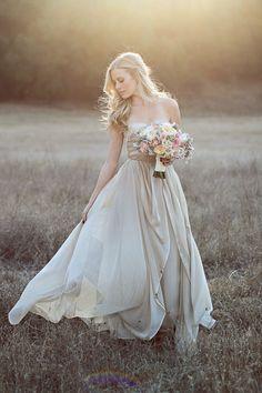 Champagne wedding gown.. stunning!