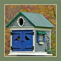 BirdBilt BHCC Cozy Cottage Bird House  http://www.birdhouseshowroom.com
