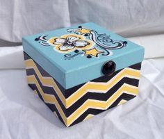 Sorority pin box, Lilly Pulitzer inspired.