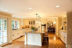 traditional kitchens, dream hous, open kitchens, kitchen layouts, dream kitchens