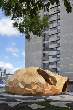 Temporary Bionic Research Pavilion  - University of Stuttgart: the Institute of Computational Design (ICD) and the Institute of Building Structures and Structural Design (ITKE)