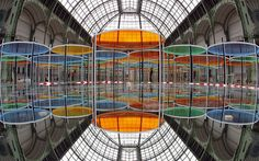 An installation called Excentrique(s) by French artist Daniel Buren is set up    for the Monumenta 2012 event at the Grand Palais in Paris. - Picture: FRANCOIS GUILLOT/AFP/GettyImages