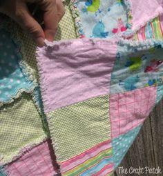 Easy Rag Quilt Tutorial sew, babi ideascraft, craft patch, baby gifts, easi rag, the craft, babi gift, quilt tutorials, easy rag quilts