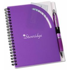 View a larger, more detailed picture of the Curvy Top Notebook w Pen